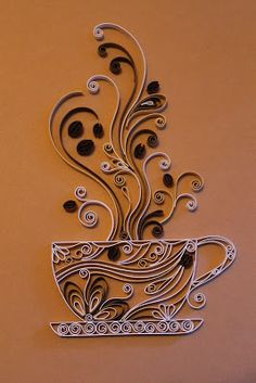Quilled coffee