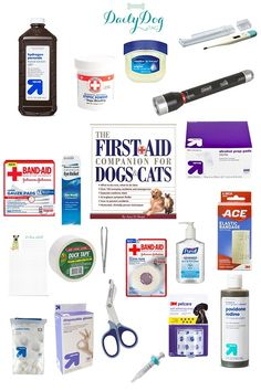 #PetHealth: First Aid Care for pets, DIY first aid kit for dogs, canine first aid kit. via @DailyDogTag