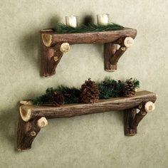 Cute shelves -- for Christmas decorating.