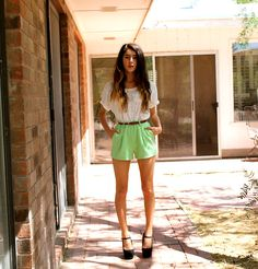 Forever 21 Shirt, Forever 21 Mint Shorts - Constant Conversations - Beka ♡ Nicole