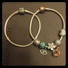 Rose gold pandora bracelet. Charms for sale too Lightly worn rose gold bracelet. All authentic. Gift wrap is available upon request. If interested in charms comment below for prices. Serious inquiries only! Lower prices if bundled! Pandora Jewelry Bracelets