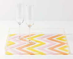 Martha Stewart Chevron Acrylic Tray from Huybers Crafts Fun Crafts, Crafts For Kids, Arts And Crafts, Paper Crafts, Small Projects Ideas, Diy Projects, Craft Ideas, Project Ideas, Martha Stewart Crafts