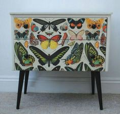 upcycled furniture Repurposed Bedside Tables And Some Nice Ideas Decoupage Furniture, Sideboard Upcycle, Decor, Furniture Diy, Upcycled Furniture, Retro Home Decor, Painted Furniture, Retro Home, Redo Furniture