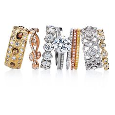Brides.com: . 45. You can always add on later. If your diamond is smaller than you'd hoped, you can always add side stones, a diamond band, or swap out the diamond altogether for a larger one down the line when you may have more money to spend on it. Many couples add to the engagement ring for future anniversaries.