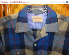 20 sale Vintage 50's penny's towncraft plaid wool by Simplemiles, $42.80