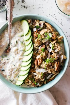 Need a new way to use up zucchini but find yourself tired of zucchini bread recipes (chocolate, or otherwise)? Try this overnight oatmeal recipe! Zoats are a delicious way to eat more vegetables because you stir the veggies right in to the creamy, delicious oatmeal! A tasty and fiber rich breakfast that tastes like a healthy version of zucchini bread. What's not to love?