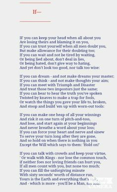 If by Ruyard Kipling