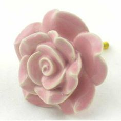 Light Pink Rose Ceramic Cabinet Knobs-10pc Cupboard Drawer Pulls & Handles K38 Hand-Painted Vintage Ceramic Rose Knobs with Brass Hardware. Ceramic Knobs, Handles & Pulls for Dresser, Drawers, Cabinets & Vanity - Amazon.com