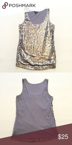 """Express Sequins Tank Top Size small. Bust approx 34"""" length approx 26"""". 60% cotton 40% modal. Stretchy fit. Express Tops Blouses"""