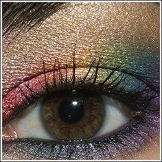 Subtle rainbow eyeshadow