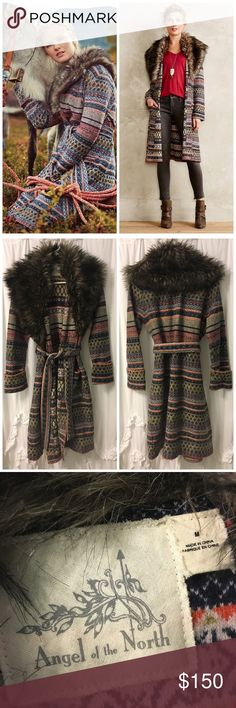Angel of the North Shawled Sweatercoat Angel of the North Shawled Sweatercoat   One of my all-time fav sweater coats but I ended up with 2 and need to sell my extra. So warm and cozy.  Excellent used condition Anthropologie Sweaters