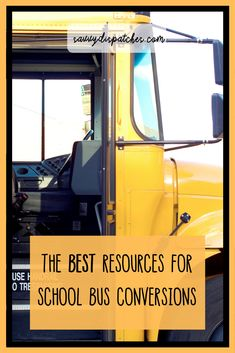 Best Resources for Bus Conversions // Skoolie Conversion Tips // Bus Life Guide Buy A School Bus, School Bus Tiny House, School Bus Camper, Converted School Bus, Magic School Bus, Vintage Camper Redo, Bus Remodel, Bus Living, Short Bus