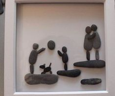 813 images about Kreativ - Rock / Stone / Pebble Art on We Heart It Stone Pictures Pebble Art, Pebble Stone, Stone Art, Sea Glass Crafts, Sea Glass Art, Stone Crafts, Rock Crafts, Pebble Art Family, Rock And Pebbles