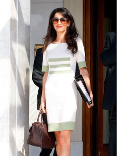 Amal spotted out in Greece, October 2014.