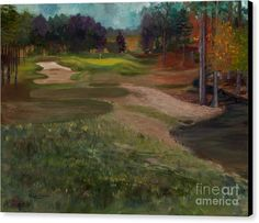 Canvas Print featuring the painting Aces In The Hole By Marilyn Nolan-Johnson