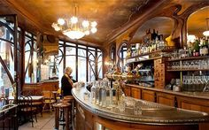 Bistrot du Peintre This listed, art nouveau café-bistro has a gorgeous 1902 décor of sinuous woodwork and tiled, allegorical figures of spring and summer. It is much loved by a laidback Bastille crowd for its satisfying, inexpensive cuisine. The choice goes from utterly trad snails or oeuf meurette (egg poached in red wine), steak tartare and some southwestern French touches – my daughter's a fan of the confit de canard – to inventive salads and creative tomato Tatin with red pepper sorbet..