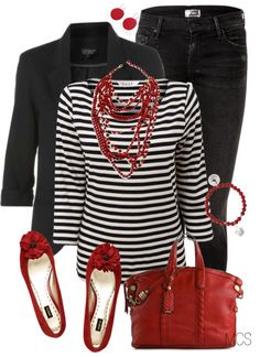 """Red and Black"" by mclaires on Polyvore"