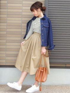 mihoニコ|MODE ROBEのデニムジャケットを使ったコーディネート - WEAR
