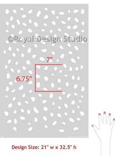Chic Cheetah Spots Wallpaper Stencil. Animal Print Stencil from Royal Design Studio