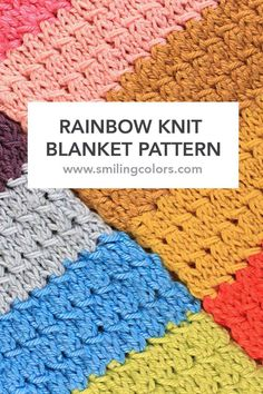 Knitting Pattern Rainbow Blanket : 1000+ images about Knitting and Crochet on Pinterest ...