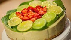 Avokado-basilikakakku - Sara La Fountain | 24Kitchen Vegan Cheesecake, Flan, Cheesecakes, Fountain, Watermelon, Good Food, Fruit, Fun Recipes, Drinks