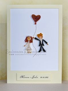 Mariage quilling card