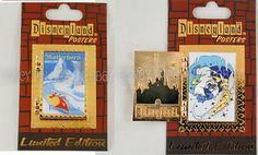 Disneyland Matterhorn Fantasyland Poster w Tinkerbell & Yeti Disney Pin LE 1000