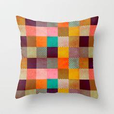 Decorative Pixel Throw Pillow by Louise Machado - #society6 #louisemachado #pattern #illustration #print #decorative #stripes #dots #geo #geometric #texture #pixel #gift #cover #case #pillow #throwpillow #home #decor #homedecor #appartment