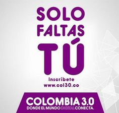 Regístrate Ya en la Gran Cumbre de los #ContenidosDigitales Colombia 3.0...