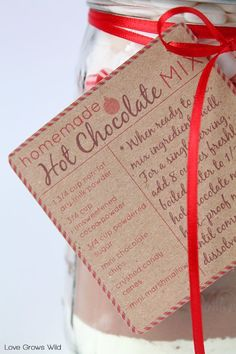 Homemade Hot Chocolate Mix - a great gift in a jar idea for the holidays!