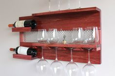 ON SALE Stunning Wall Mounted Wine and Liquor Rack with