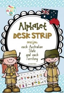Alphabet strips for your class tables in each font for all states and territories of Australia