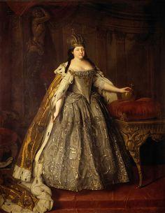 Czarina Ana Ivanovna Romanova, 1730/ Louis Caravaque - Портрет императрицы Анны Иоанновны