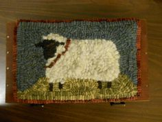 Peaceful sheep with real wool fleece. generalstoreprims.blogspot.com