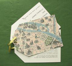 map wedding invite