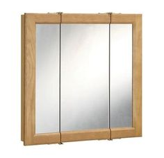 """View the Design House 530568 30"""" Framed Triple Door Mirrored Medicine Cabinet from the Richland Collection at Build.com."""