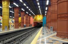 The Olaias Metro Station in Lisbon, Portugal is one of the 20 Coolest Subway Stations Around The World according to Jimmy Im in The Huffington Post - November 2013  http://www.huffingtonpost.com/fodors/coolest-subway-stations_b_4269308.html