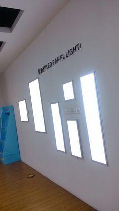 square panel lights recessed version