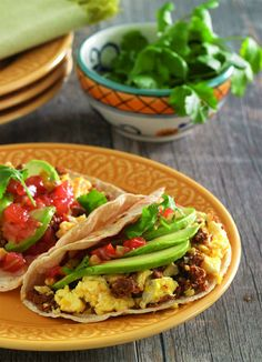Avocado & Chorizo Breakfast Tacos - Get a taste of this spicy traditional recipe from the Taste of México Sweepstakes.