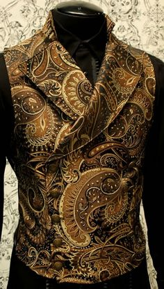 Men need to wear more of these, please. Mens Cavalier Vest by Shrine Clothing Gothic Dresses