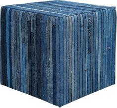KARE Design Hocker Denim 45x45cm Blau Würfelform NEU