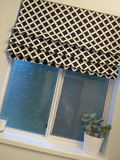 Our House: DIY: Fixed Roman Shade