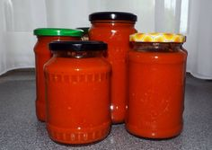 Ketchup, Salt And Pepper, Mason Jars, Pizza, Stuffed Peppers, Canning, Glass, Food, Meat