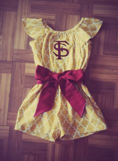 Gorgeous Florida State Romper by Monogrambymelissa on Etsy