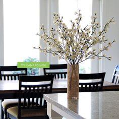 DIY Beautiful Cherry Blossom with Burlap Vase