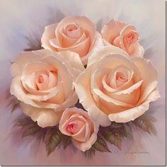 Rosas em tela