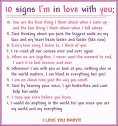 Well all 10 are true..... I am without a doubt, head over heels in love with him