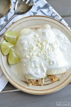 Green Chile Rice Enchiladas - These simple enchiladas are filled with green…