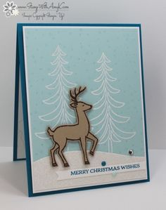 merry christmas wishes | amy k | Stampin' Up! Santa's Sleigh for The Challenge