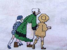 BILD8073 Doll Toys, Dolls, Folk Art, Alice, Cross Stitch, Fictional Characters, Cross Stitch Embroidery, Dressmaking, Manualidades